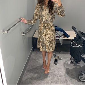 H&M snake skin dress